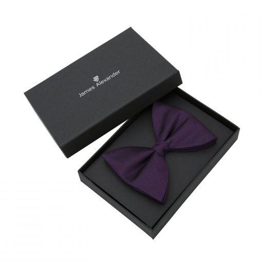 Cadbury Purple Panama Silk Butterfly Pre-Tied Bow Tie