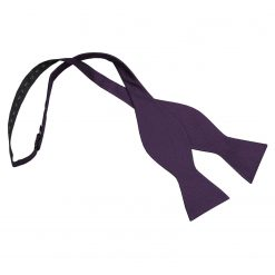 Cadbury Purple Panama Silk Thistle Self Tie Bow Tie