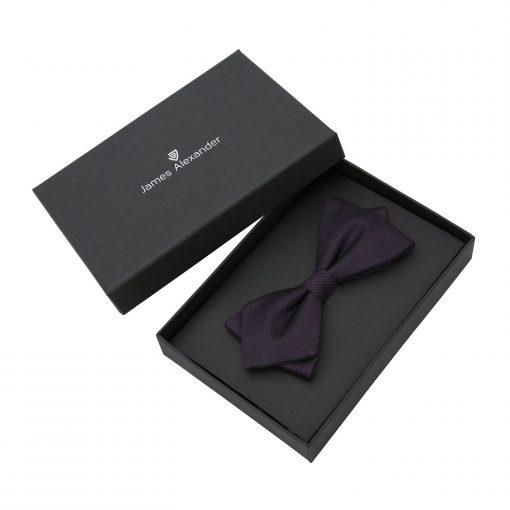 Cadbury Purple Panama Silk Pointed Pre-Tied Bow Tie