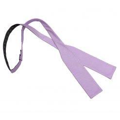 Lilac Panama Silk Batwing Self Tie Bow Tie