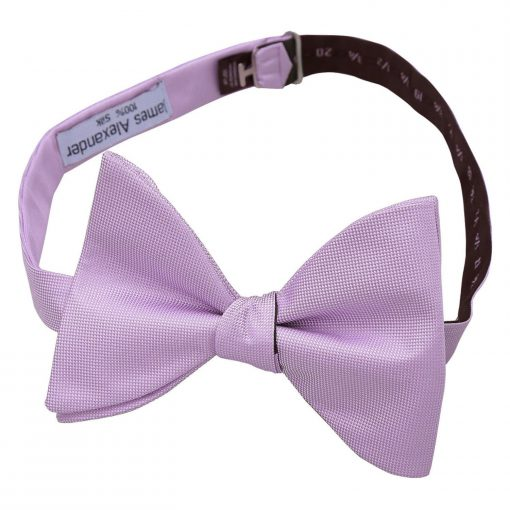 Lilac Panama Silk Butterfly Self Tie Bow Tie