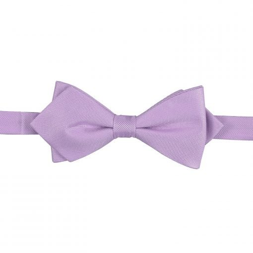 Lilac Panama Silk Pointed Pre-Tied Bow Tie