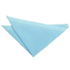 Baby Blue Knitted Handkerchief / Pocket Square
