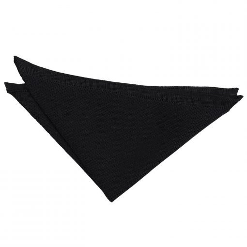 Black Knitted Handkerchief / Pocket Square