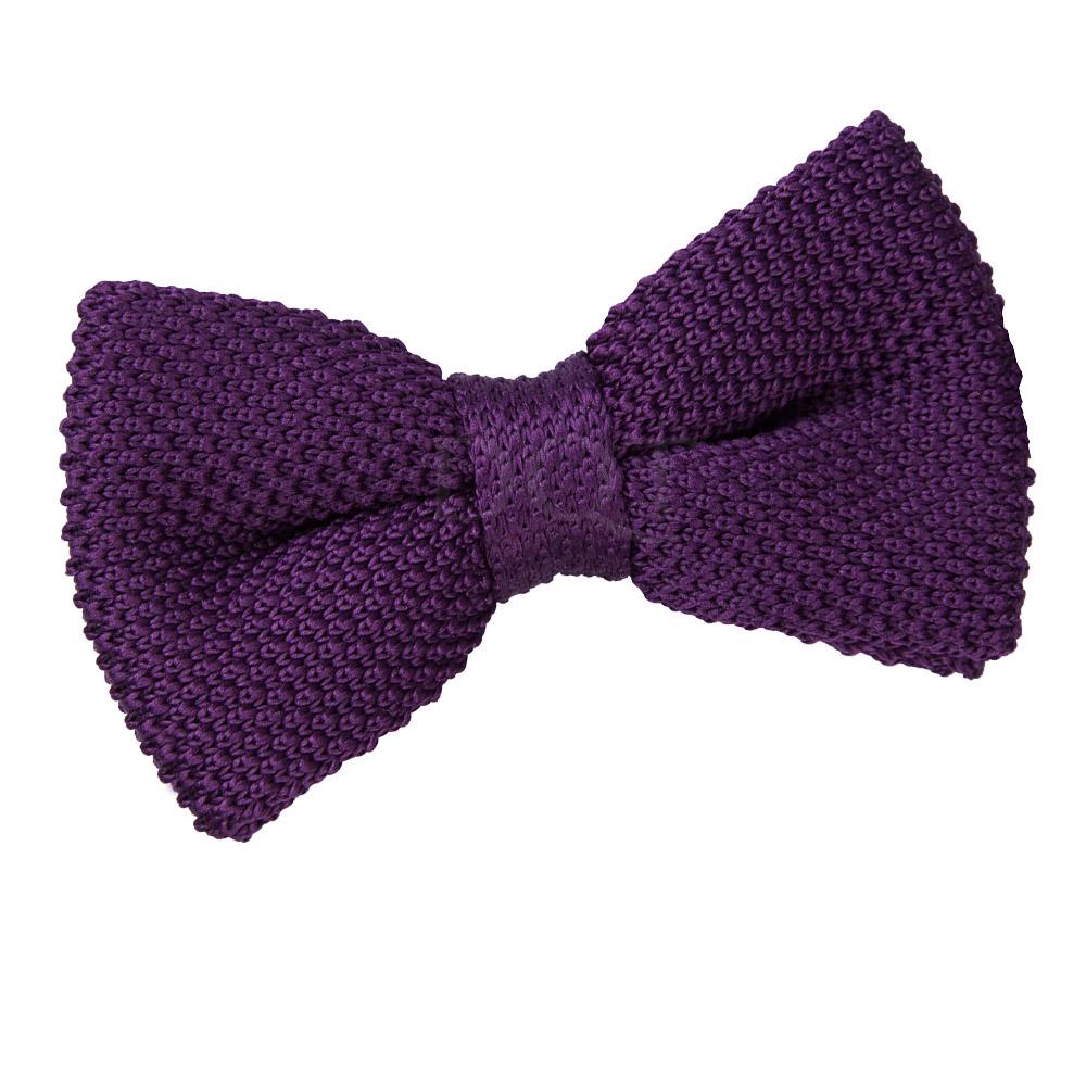 new dqt knitted s pre bow tie cadbury purple ebay