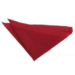 Burgundy Knitted  Pocket Square
