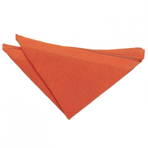 Burnt Orange Knitted Handkerchief / Pocket Square