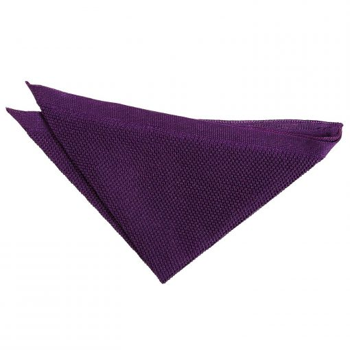 Cadbury Purple Knitted Handkerchief / Pocket Square