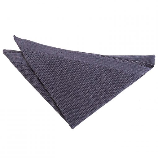 Charcoal Knitted Handkerchief / Pocket Square