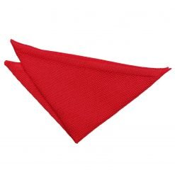 Crimson Red Knitted Pocket Square