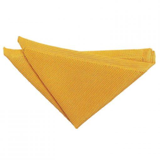 Marigold Yellow Knitted Handkerchief / Pocket Square