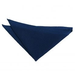Navy Blue Knitted  Pocket Square