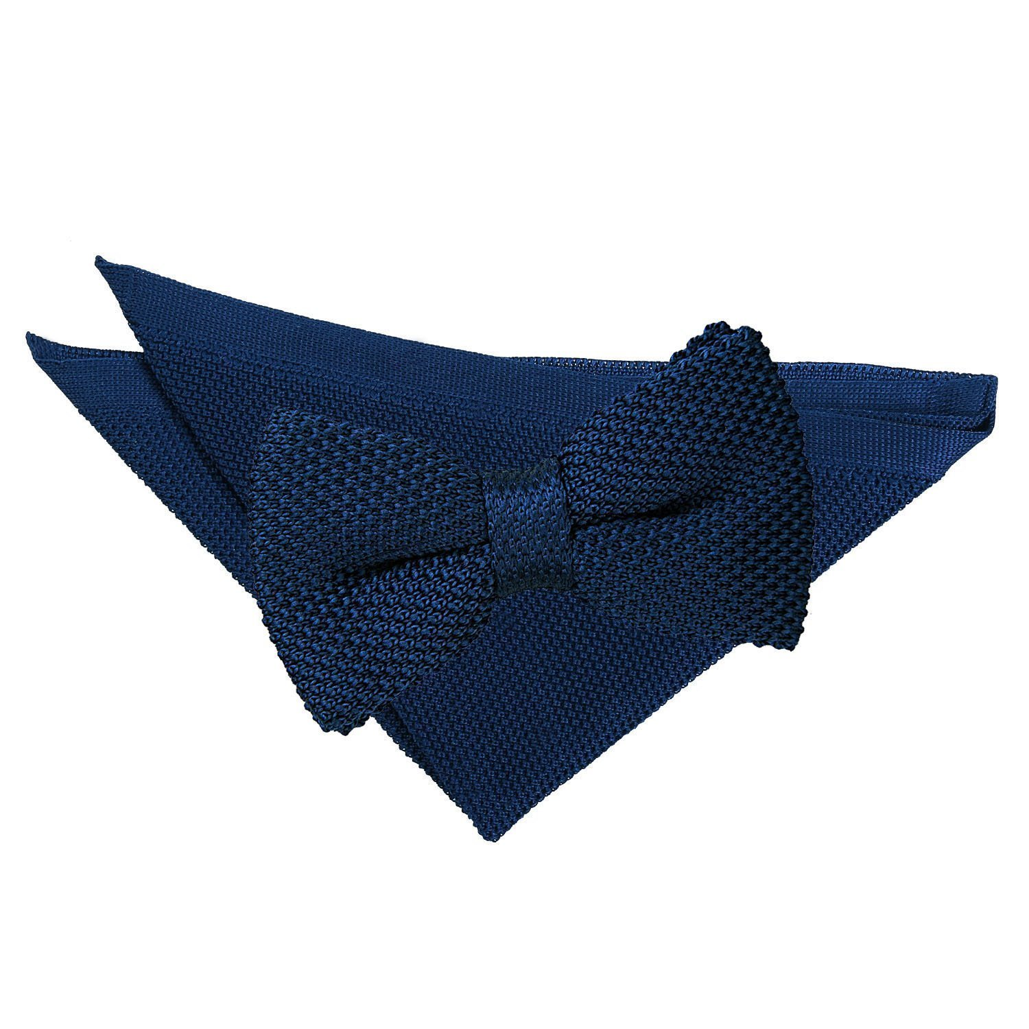 93f6d70867b7 Tangerine Knitted Bow Tie & Pocket Square Set