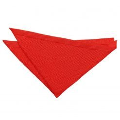 Red Knitted Handkerchief / Pocket Square