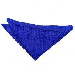 Royal Blue Knitted Handkerchief / Pocket Square