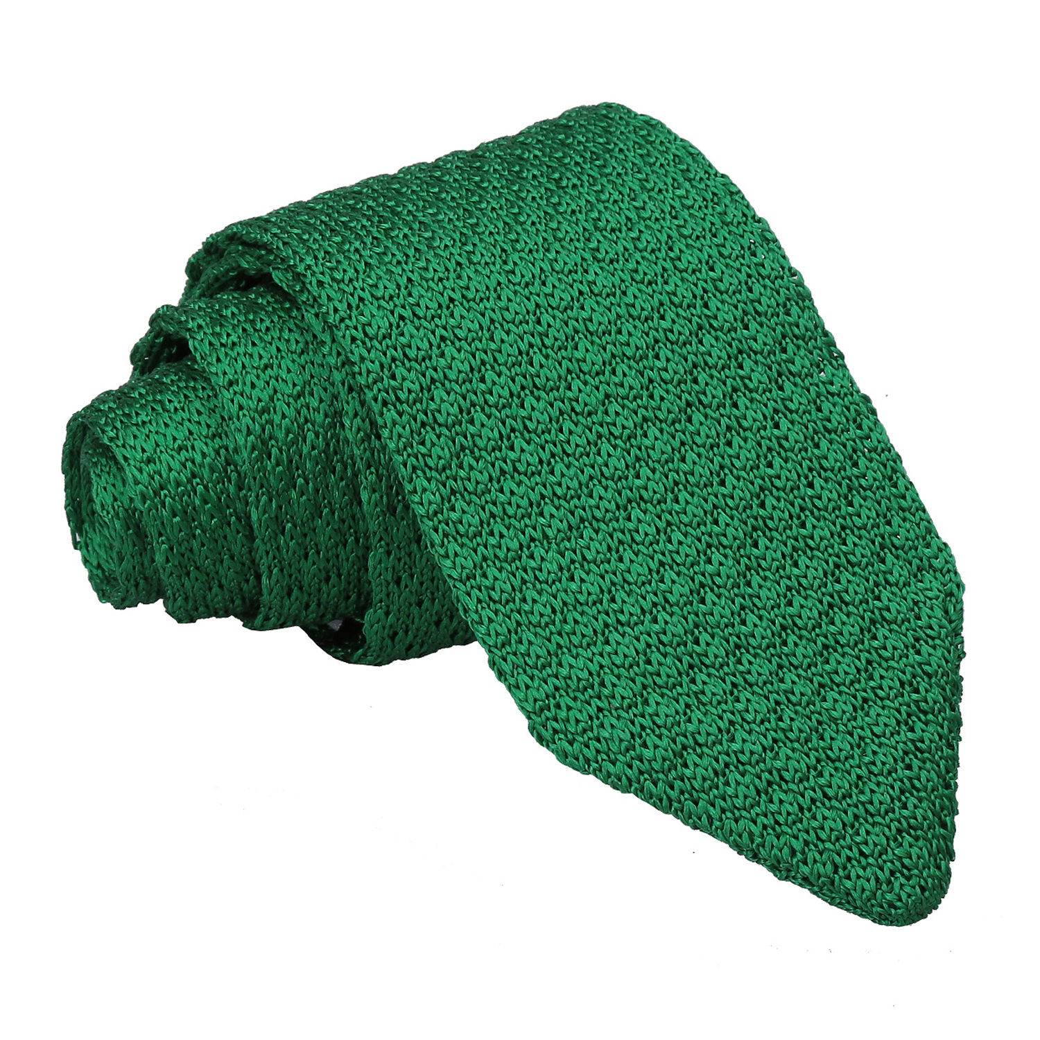 JA Grenadine Knitted Silk Emerald Green Tie
