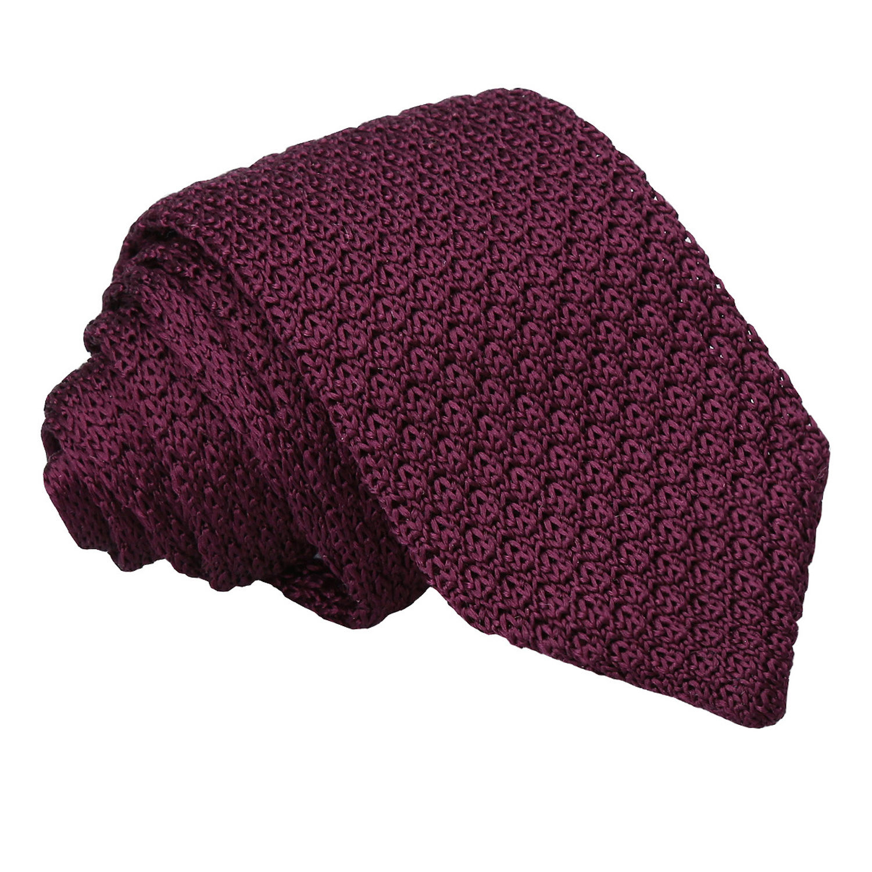 JA Grenadine Knitted Silk Plum Tie