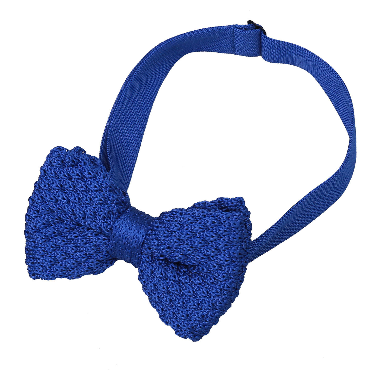 JA Grenadine Knitted Silk Royal Blue Bow Tie