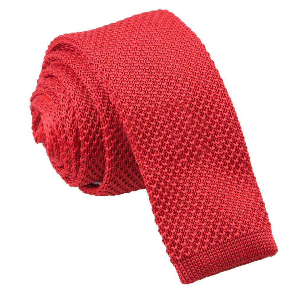 Mens Solid Knitted Wool Tie 100/% Woolen Plain Skinny Necktie-Various Colors