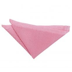 Strawberry Pink Knitted Handkerchief / Pocket Square