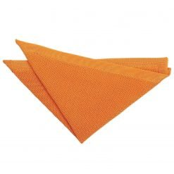 Tangerine Knitted  Pocket Square