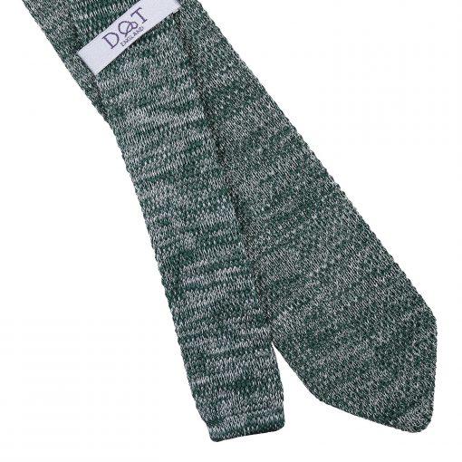 Teal Melange Plain Speckled Knitted Slim Tie
