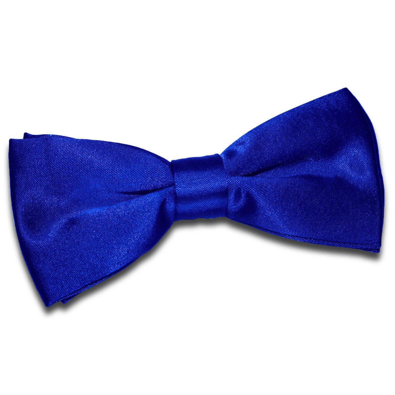 Men S Plain Royal Blue Satin Bow Tie