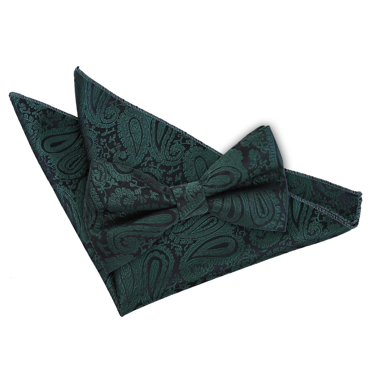 DQT Paisley Floral Patterned Wedding Skinny Neck Tie Pocket Square /& Cufflinks Set for Men