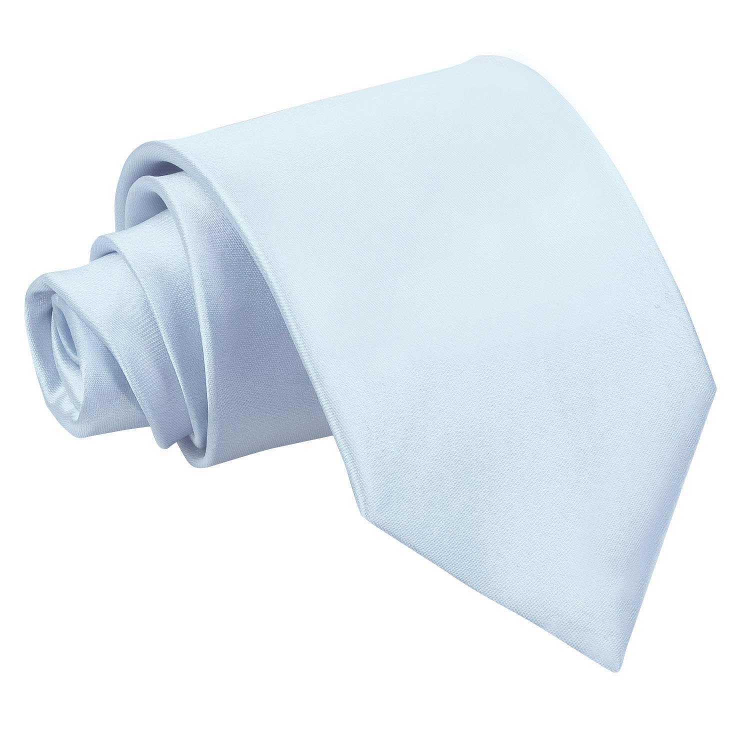 s plain baby blue satin tie