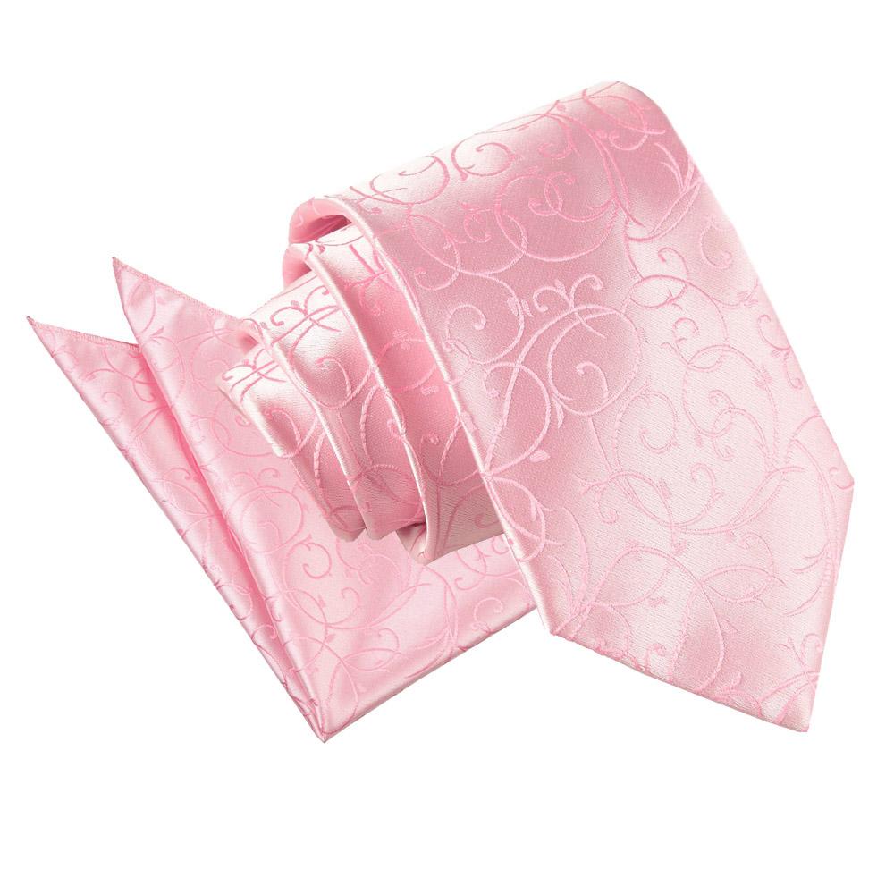 s swirl baby pink tie 2 pc set