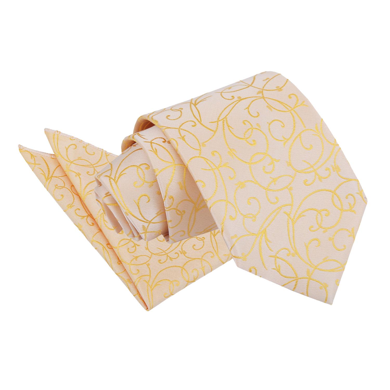 Swirl Gold Tie 2 pc. Set