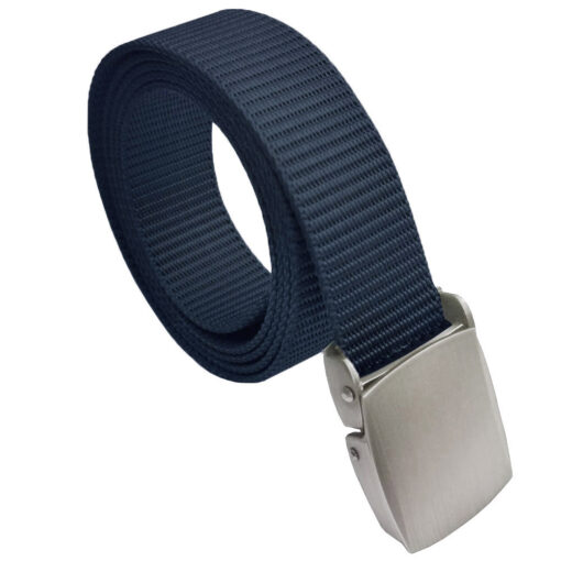 Navy Blue Canvas Buckle Belt One Size