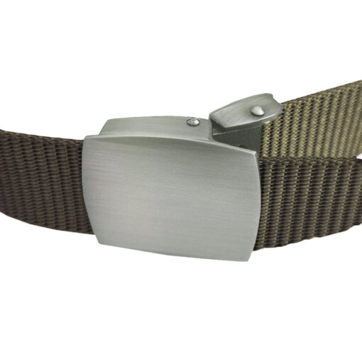 Olive Green Canvas Buckle Belt One Size