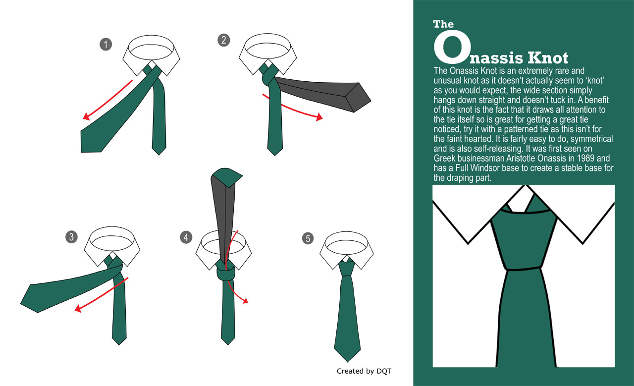 How To Tie an Onassis Knot (18 of 21) by DQT