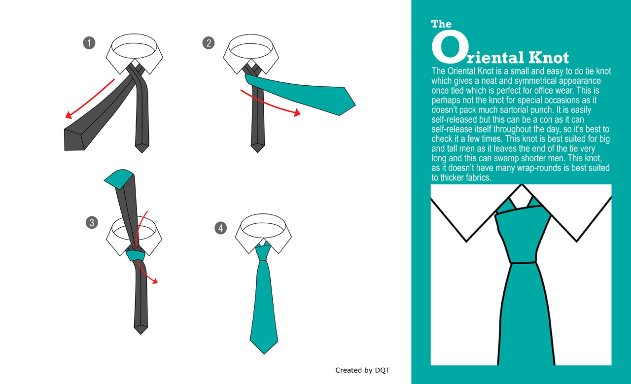 How To Tie a Oriental Knot