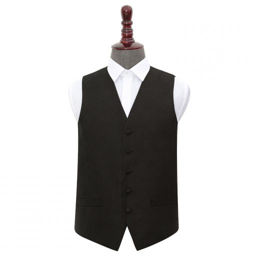 Black Paisley Wedding Waistcoat