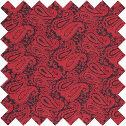 Black & Red Paisley Swatch