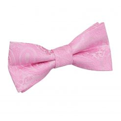 Baby Pink Paisley Pre-Tied Bow Tie for Boys