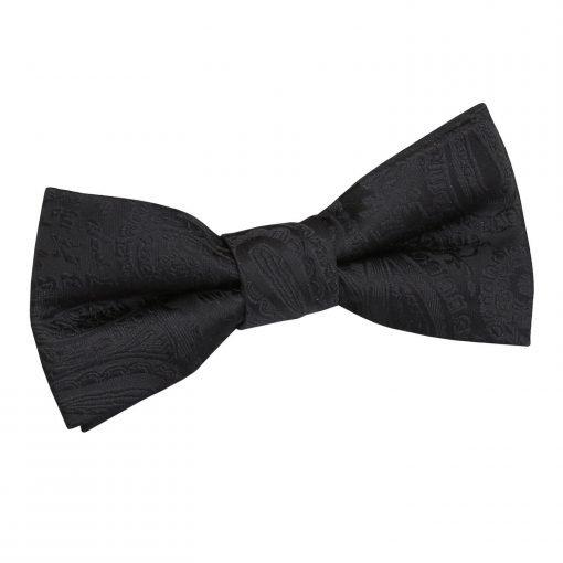 Black Paisley Pre-Tied Bow Tie for Boys