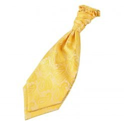 Gold Paisley Pre-Tied Wedding Cravat for Boys