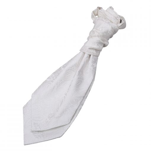 Ivory Paisley Pre-Tied Wedding Cravat for Boys