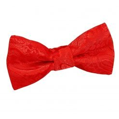 Red Paisley Pre-Tied Bow Tie for Boys