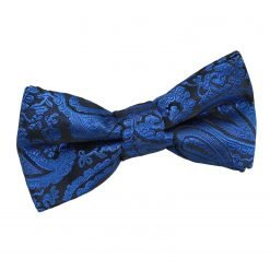 Royal Blue Paisley Pre-Tied Bow Tie for Boys