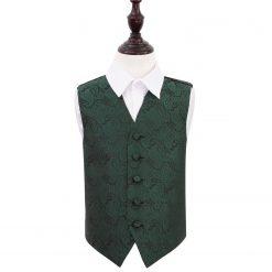 Emerald Green Paisley Wedding Waistcoat for Boys