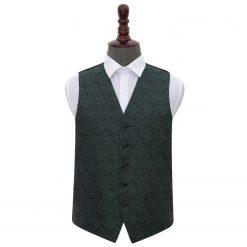 Emerald Green Paisley Wedding Waistcoat