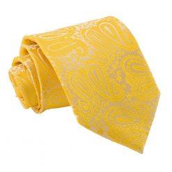 Gold Paisley Classic Tie