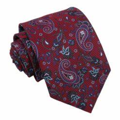 Burgundy Iris Paisley Modern Classic Tie