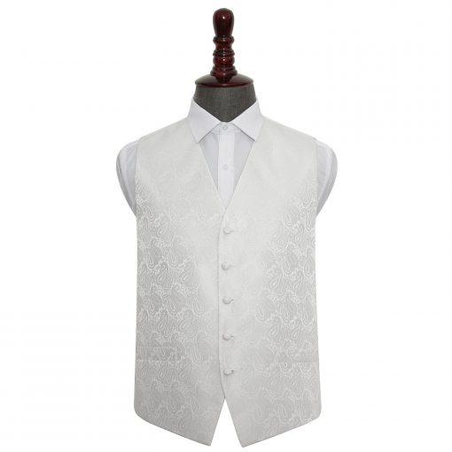 Ivory Paisley Wedding Waistcoat