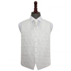Ivory Paisley Wedding Waistcoat & Cravat Set