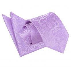 Lilac Paisley Tie & Pocket Square Set